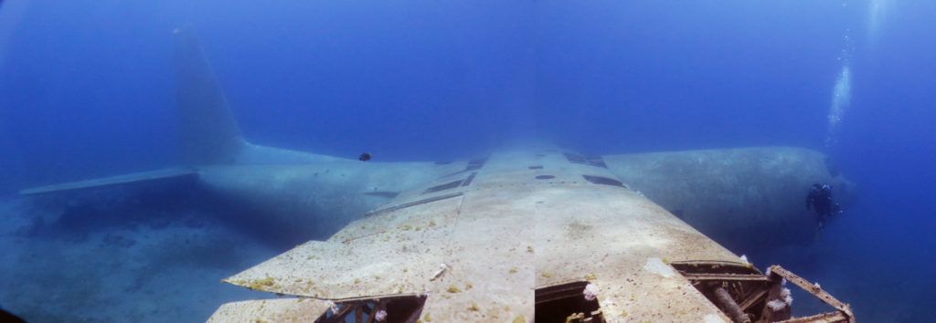 C-130 plane wreck at red sea aqaba